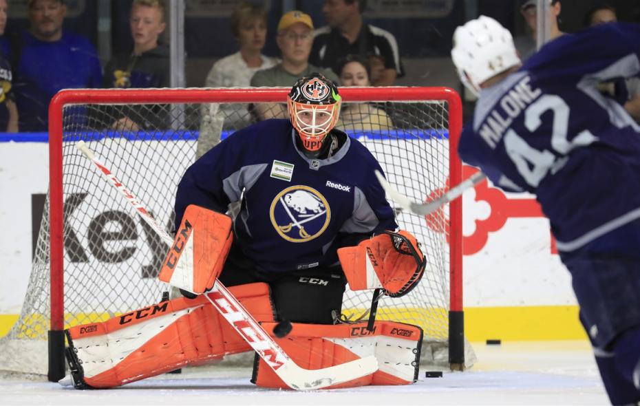 Ukko-Pekka Luukkonen is in his first Sabres development camp. (Harry Scull Jr./The Buffalo News)