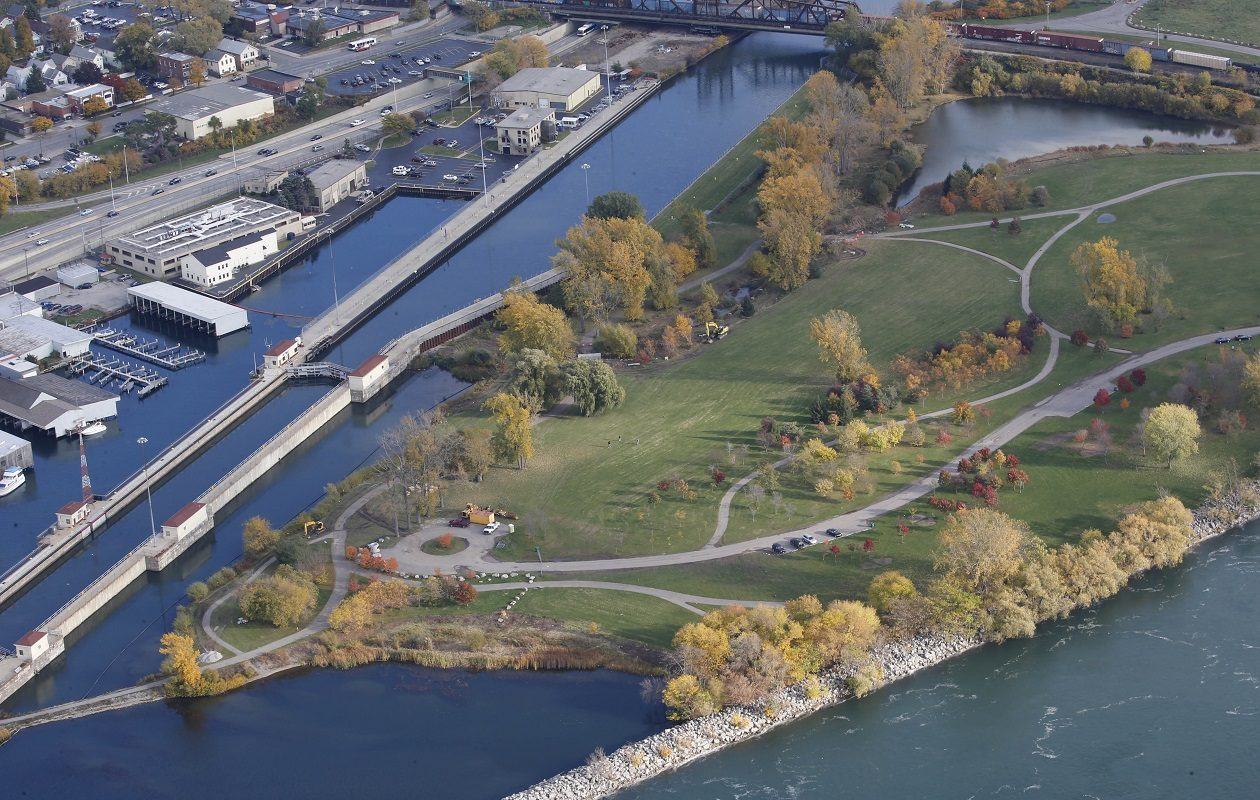 Unity Island in the Niagara River is separated from the mainland by the Black Rock Lock and the Black Rock Canal. (Derek Gee/Buffalo News file photo)