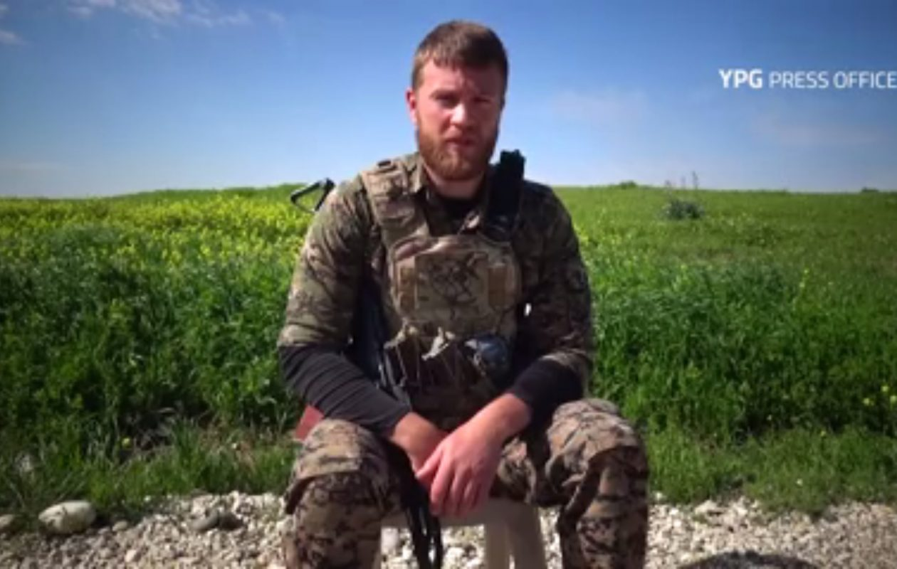 Nicholas Warden, who said he was from Buffalo, in a video produced by the YPG press office.