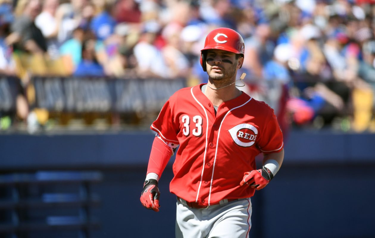 Jesse Winker, a Niagara Falls native, made his MLB debut with Cincinnati this year.  (Getty Images)