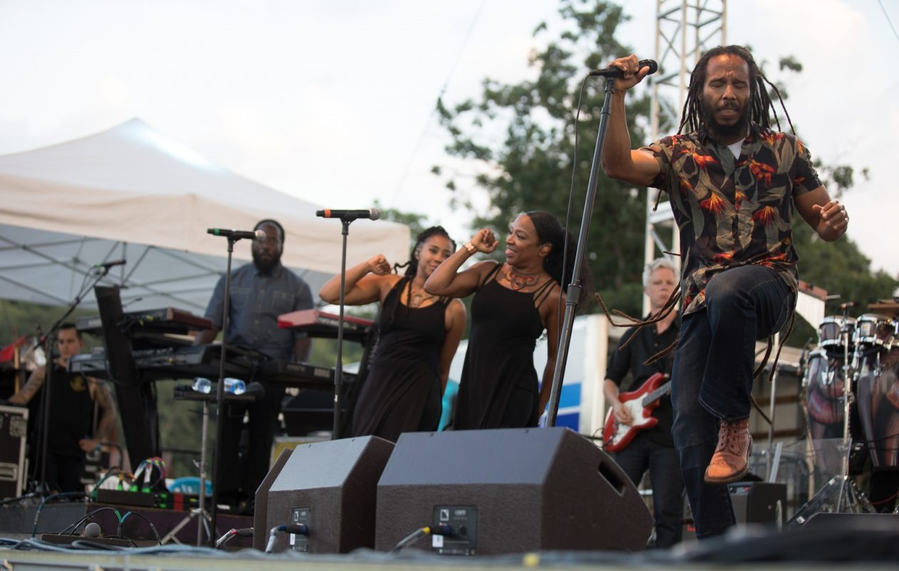 Ziggy Marley performs at Artpark Wednesday. (Chuck Alaimo/Special to The News)