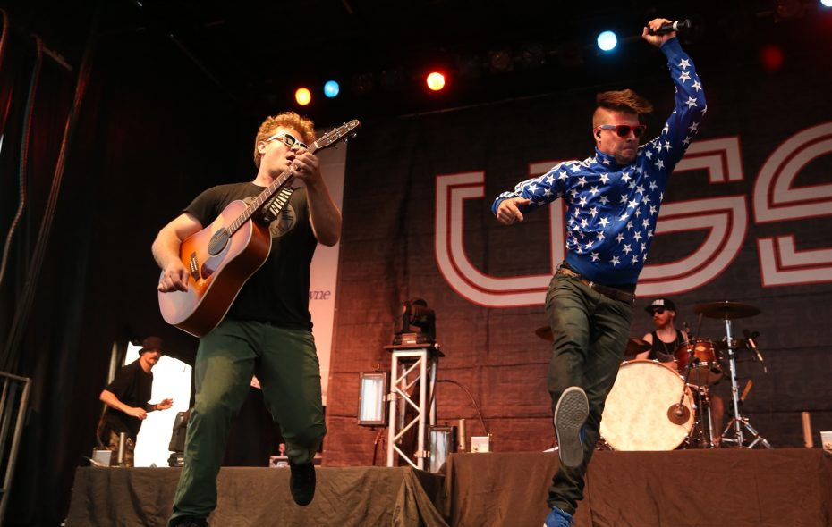 Energetic Toronto duo USS (Ubiquitous Synergy Seeker) will return to the Rapids Theatre. The duo is pictured  in 2015 as part of the area Rockin' on the River. (Sharon Cantillon/Buffalo News file photo)