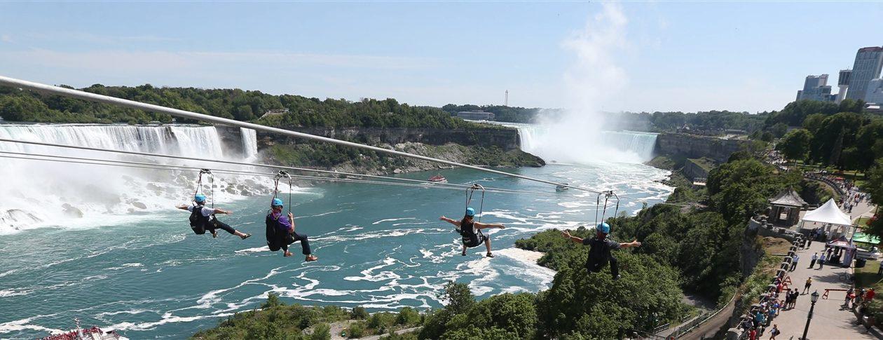 WildPlay's MistRider Zipline descends 2,200 feet into Niagara Gorge. (Sharon Cantillon/News file photo)