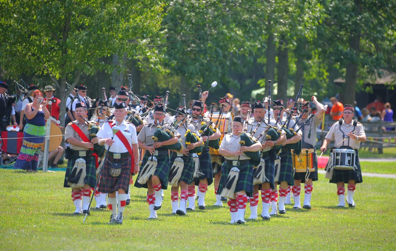 D-Company Buffalo City Guard Gordon Highlanders perform at the 2016 Scottish Festival and World Master Championship Highland Games at Buffalo Niagara Heritage Village. (John Hickey/Buffalo News)