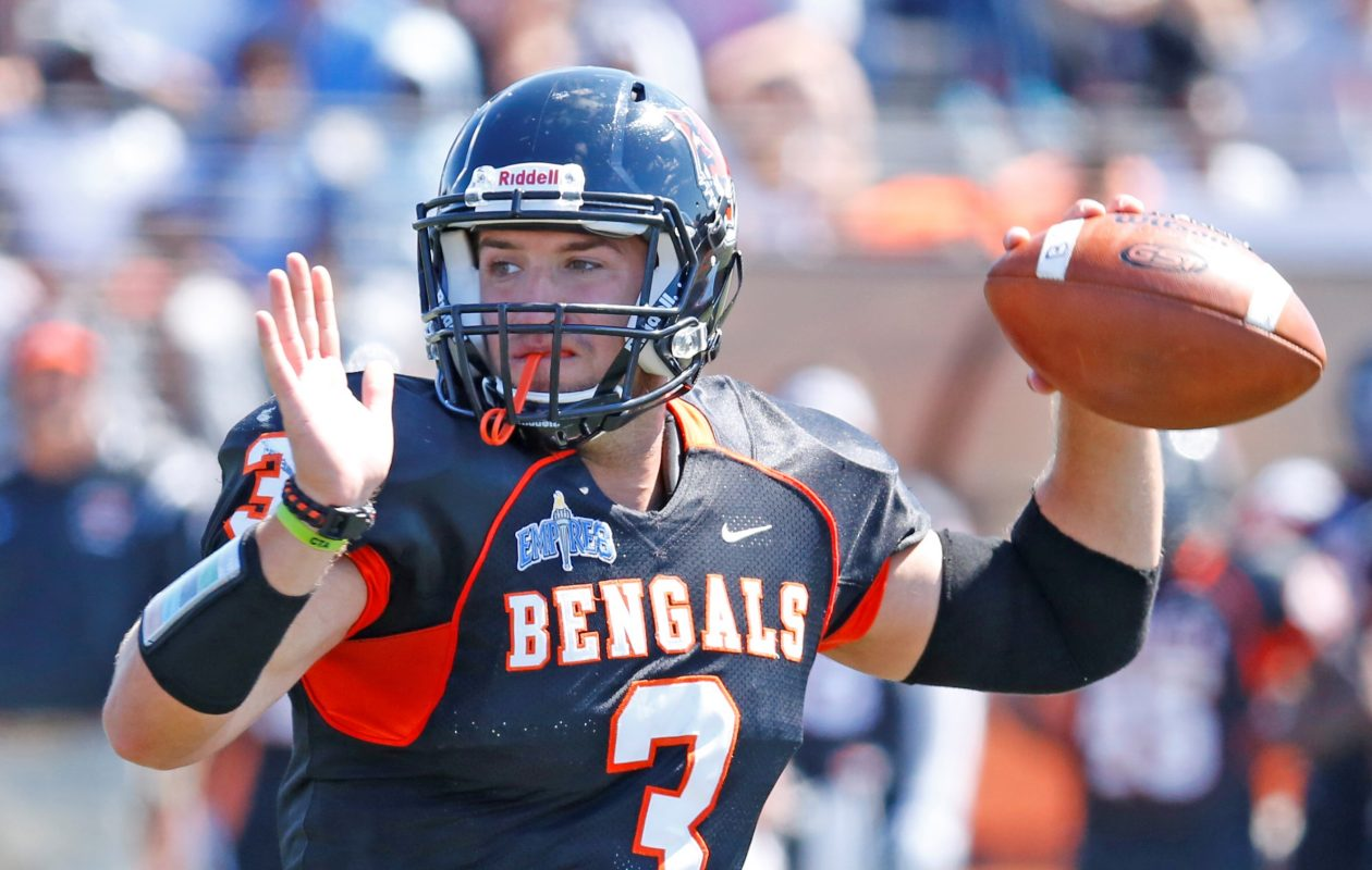 Buffalo State quarterback Kyle Hoppy leads a strong returning group for the Bengals. (Harry Scull Jr./Buffalo News)