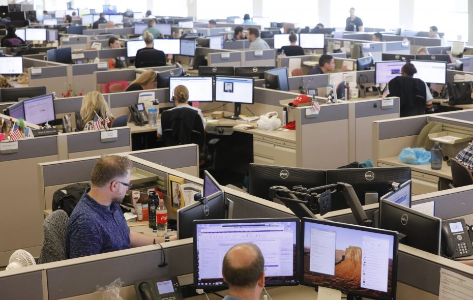 Financial services, which includes finance, insurance and real estate jobs, was one sector that saw losses between July 2016 and 2017. (Derek Gee/ Buffalo News file photo)