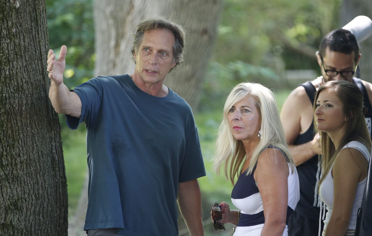 William Fichtner talks with his friend Debbie Blask of Lancaster, on the set of 'Cold Brook.' (Sharon Cantillon/Buffalo News file photo)