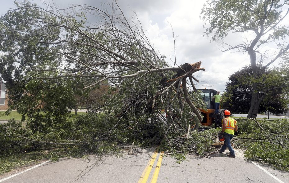 In mid-July, four tornadoes swept through parts of Western New York, leaving downed trees and destruction in their wake. (John Hickey/News file photo)