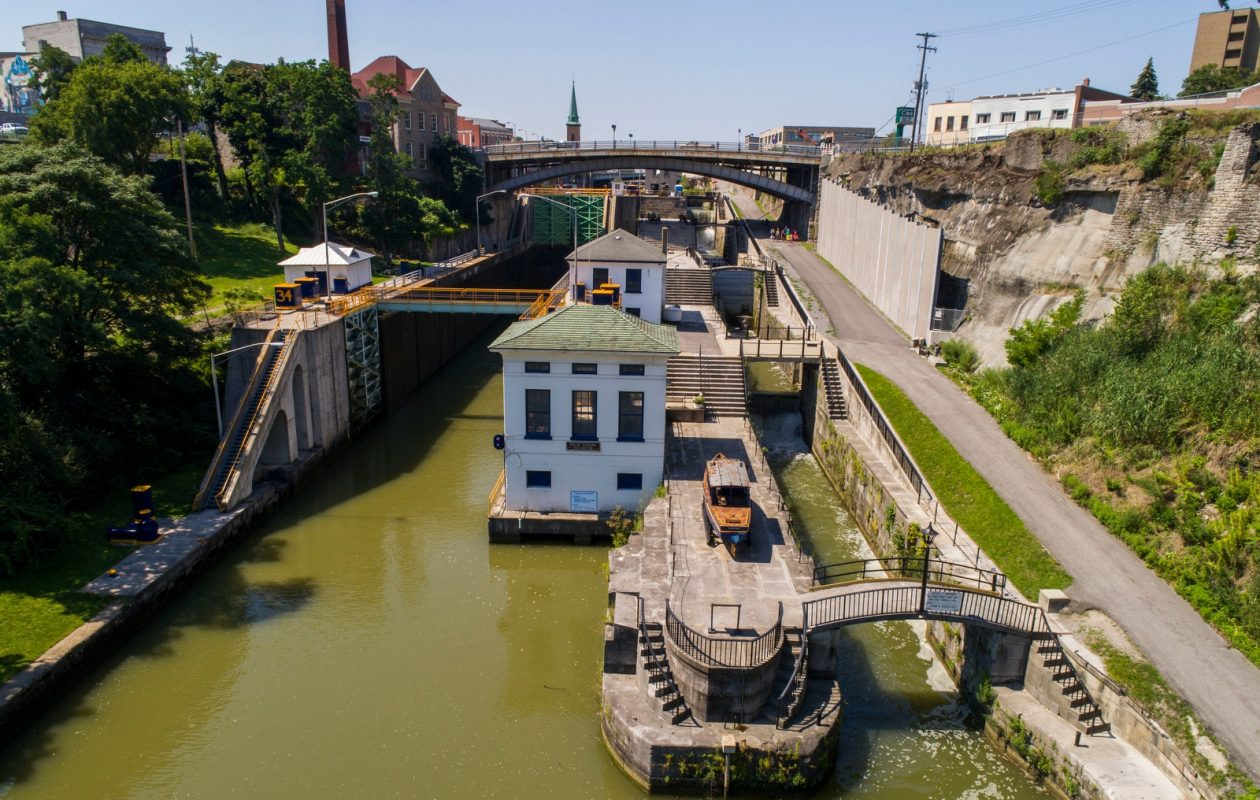The Lockport locks on the Erie Canal. (Derek Gee/News file photo)