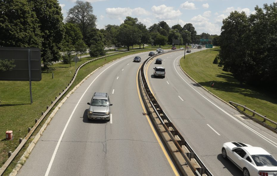Vehicles travel along sections of Scajaquada Expressway, Route 198, looking east in Buffalo, N.Y. on Tuesday Aug. 8, 2017.   (John Hickey/Buffalo News)