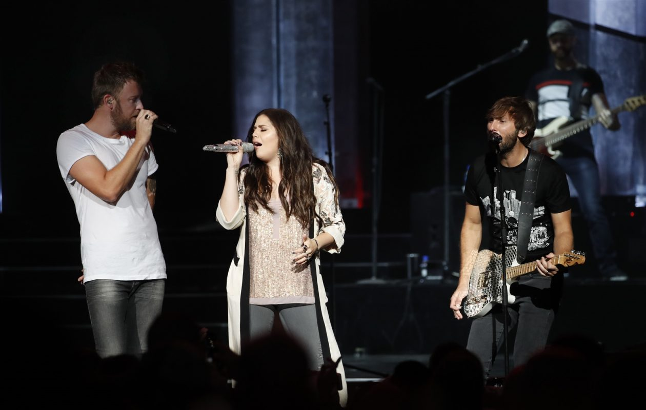 The Lady Antebellum trio of Charles Kelley, Hillary Scott and Dave Haywood try to put fresh twists on long-held hits. (Sharon Cantillon/Buffalo News file photo)