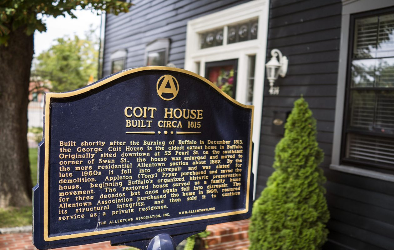 The historic Coit House was built in 1815 and later relocated to its current location in the 1860s.   (Derek Gee/ News file photo)