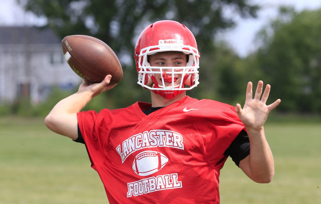 Lancaster quarterback Ryan Mansell passed for 23 touchdowns and nearly 2,000 yards as a junior last year in helping the Legends with the Section VI Class AA championship. (Harry Scull Jr./Buffalo News)