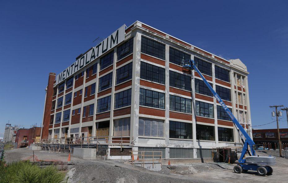 An exterior view of the Mentholatum building on Niagara Street.  (Robert Kirkham/Buffalo News file photo)