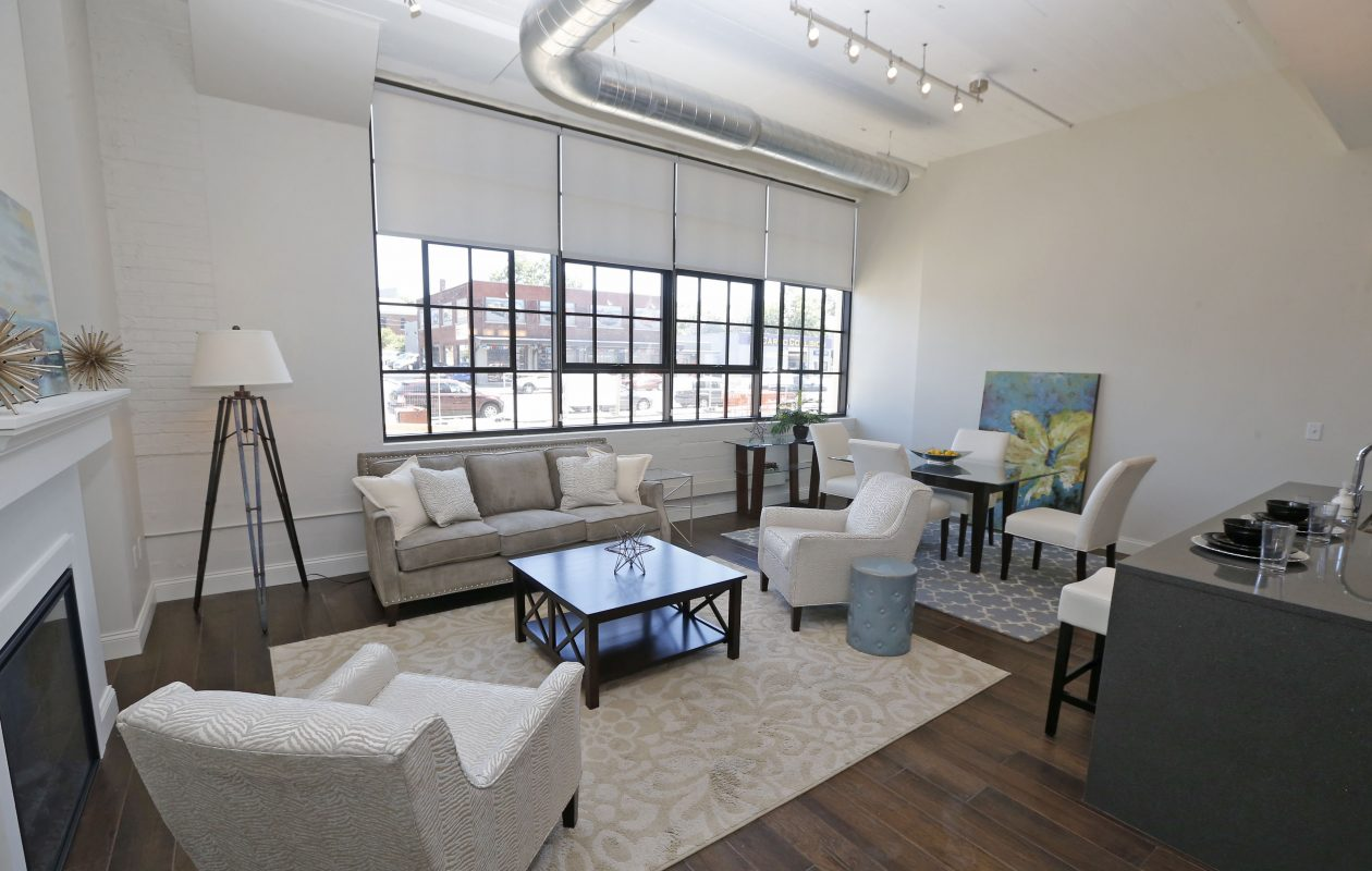 Ciminelli Real Estate group has finished one of the model units at the Mentholatum project on Niagara Street, where the company is turning a history factory into apartments and retail space.  (Robert Kirkham/Buffalo News)
