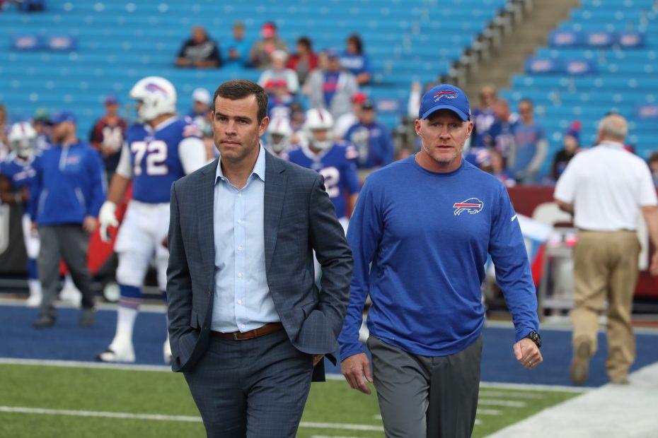 Sean McDermott and Brandon Beane. (Illustration by Daniel Zakroczemski/Buffalo News)