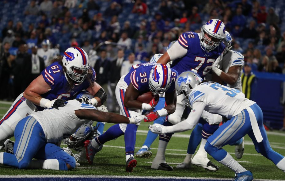Local product and former UB running back Jordan Johnson was one of several players released by the Bills on Saturday. (James P. McCoy/Buffalo News)