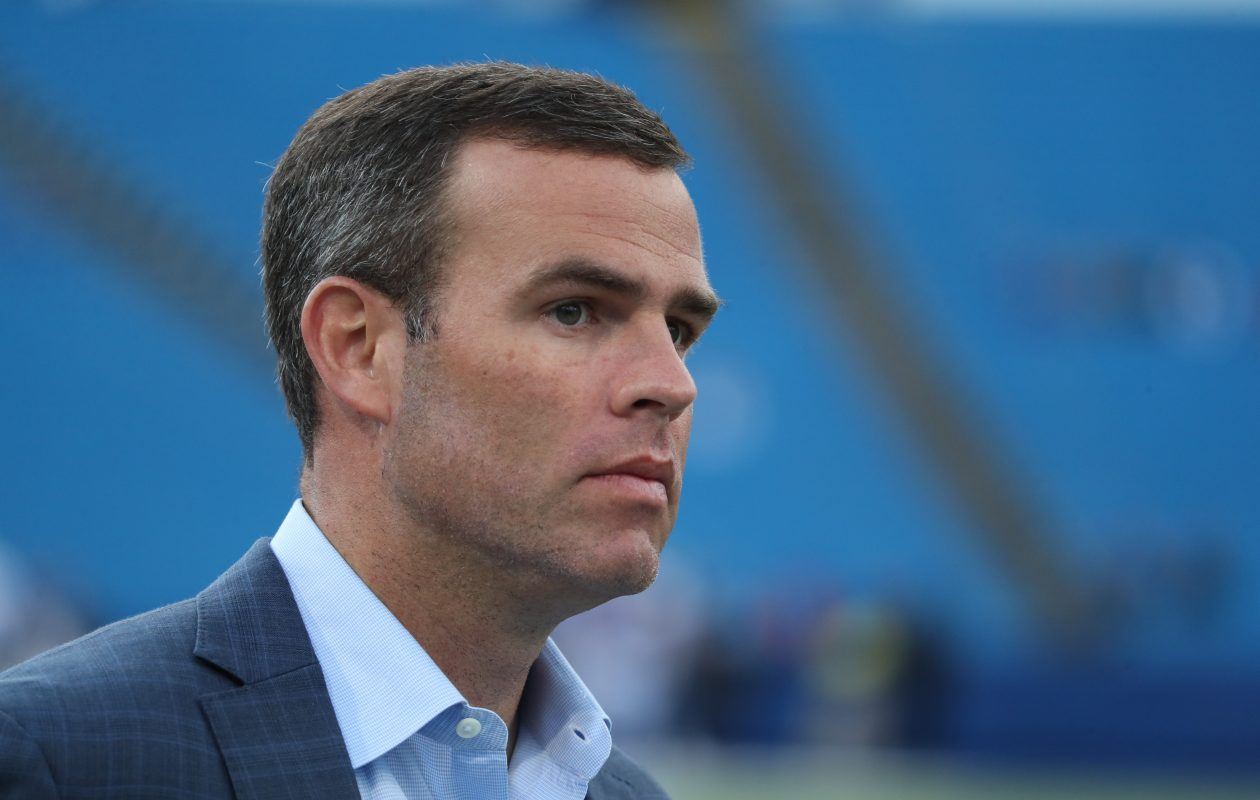 Bills General Manager Brandon Beane was busy this week looking at tryout players. (James P. McCoy/Buffalo News)