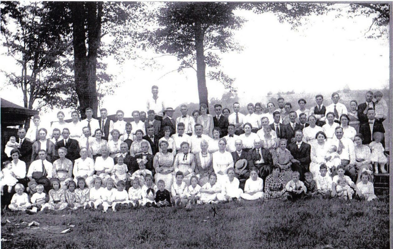Members of the Prince family gather for a photograph at their reunion in 1919. (courtesy Prince family)