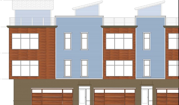A proposal to build a five-unit townhome building at 197 West Utica St. was tabled by the Planning Board on Monday.