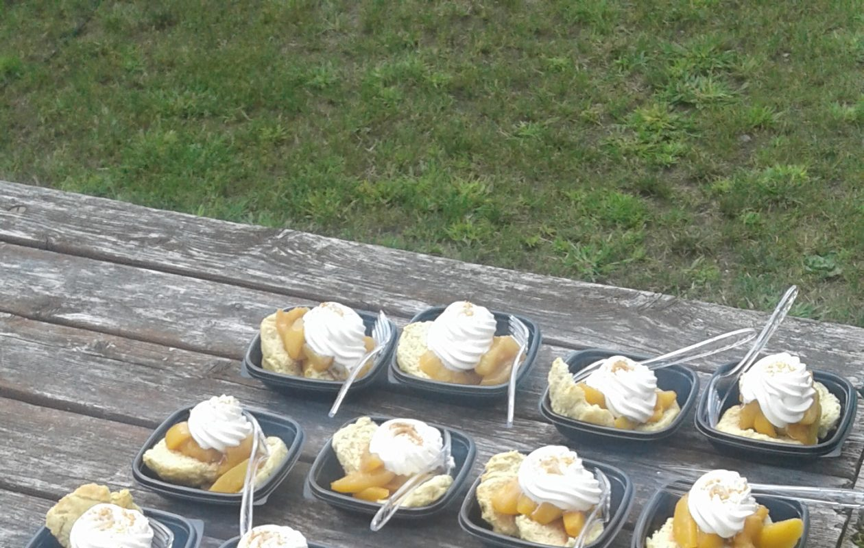 Peach shortcake like this is featured at the Niagara County Peach Festival. (Thomas J. Prohaska/The Buffalo News)