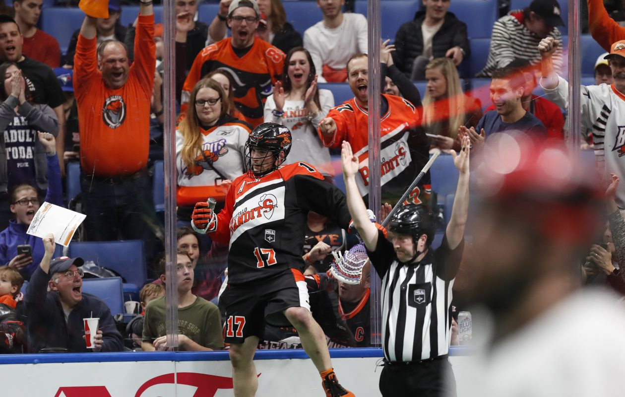 Ryan Benesch celebrated a lot of goals during his four years with the Bandits. (Harry Scull Jr./Buffalo News)