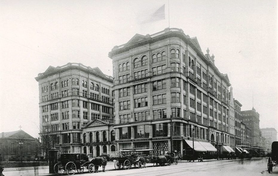 "The Mooney & Brisbane Building, pictured in 1896. (Photo from ""Art Work of Buffalo, New York"")"