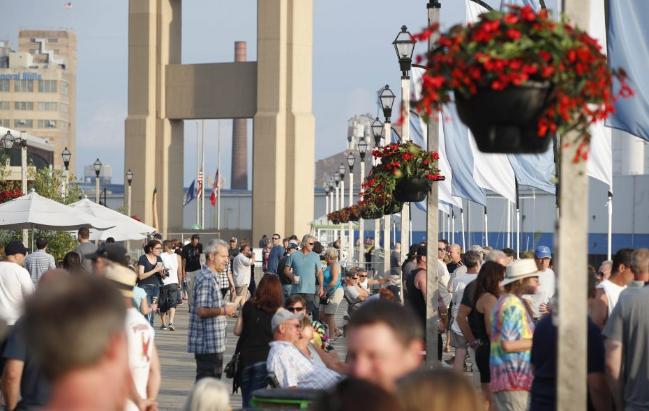 Canalside has become an increasingly important destination during Byron W. Brown's 12 years as mayor. (Sharon Cantillon/Buffalo News file photo)
