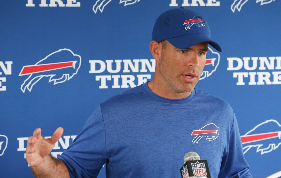 General Manager Brandon Beane pulled the trigger on not one, but two big trades last week. (James P. McCoy/Buffalo News)