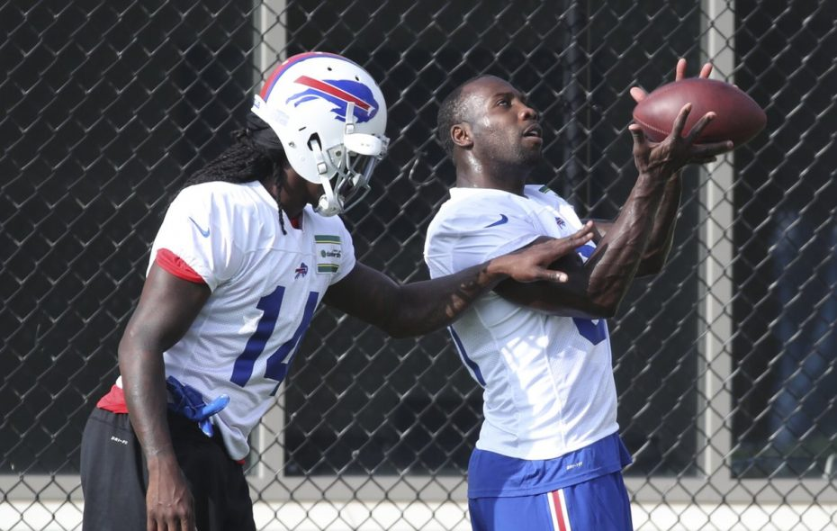 Bills receiver Anquan Boldin, right, is now a former teammate of Sammy Watkins. (James P. McCoy/Buffalo News)