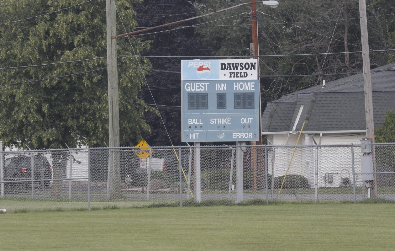 Dawson Field has been used as a sports field for high school and youth sports for decades. But the Depew School District is planning to sell the field because it is building a new sports complex.  (John Hickey/Buffalo News)