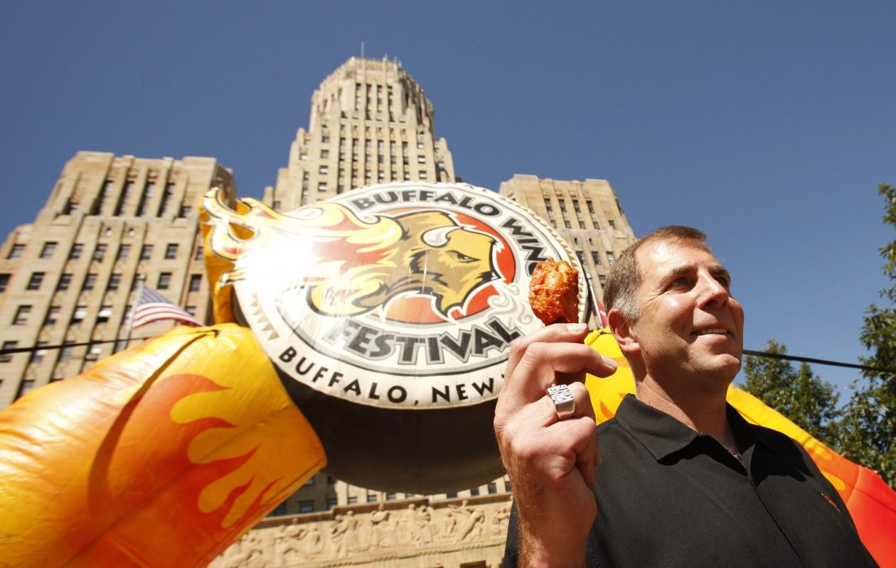 Drew Cerza, shown here during a news conference prior to the National Buffalo Wing Festival in 2012. (Derek Gee/Buffalo News)