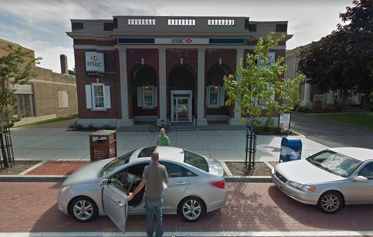 A Google Street View of the former HSBC branch taken in September 2011. (Google)
