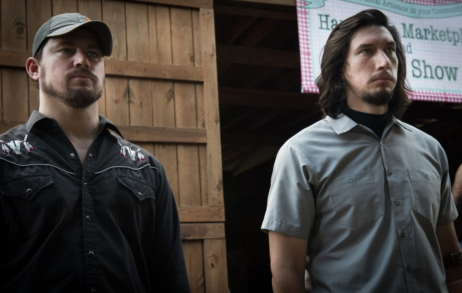 "Channing Tatum and Adam Driver play brothers in ""Logan Lucky."""