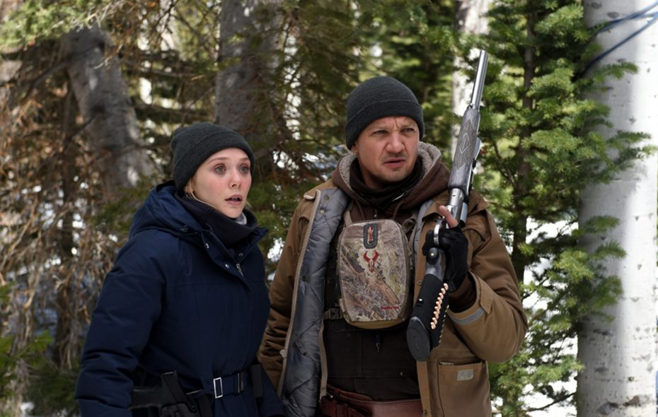 """Elizabeth Olsen and Jeremy Renner star in """"Wind River."""" (Fred Hayes/The Weinstein Company)"""