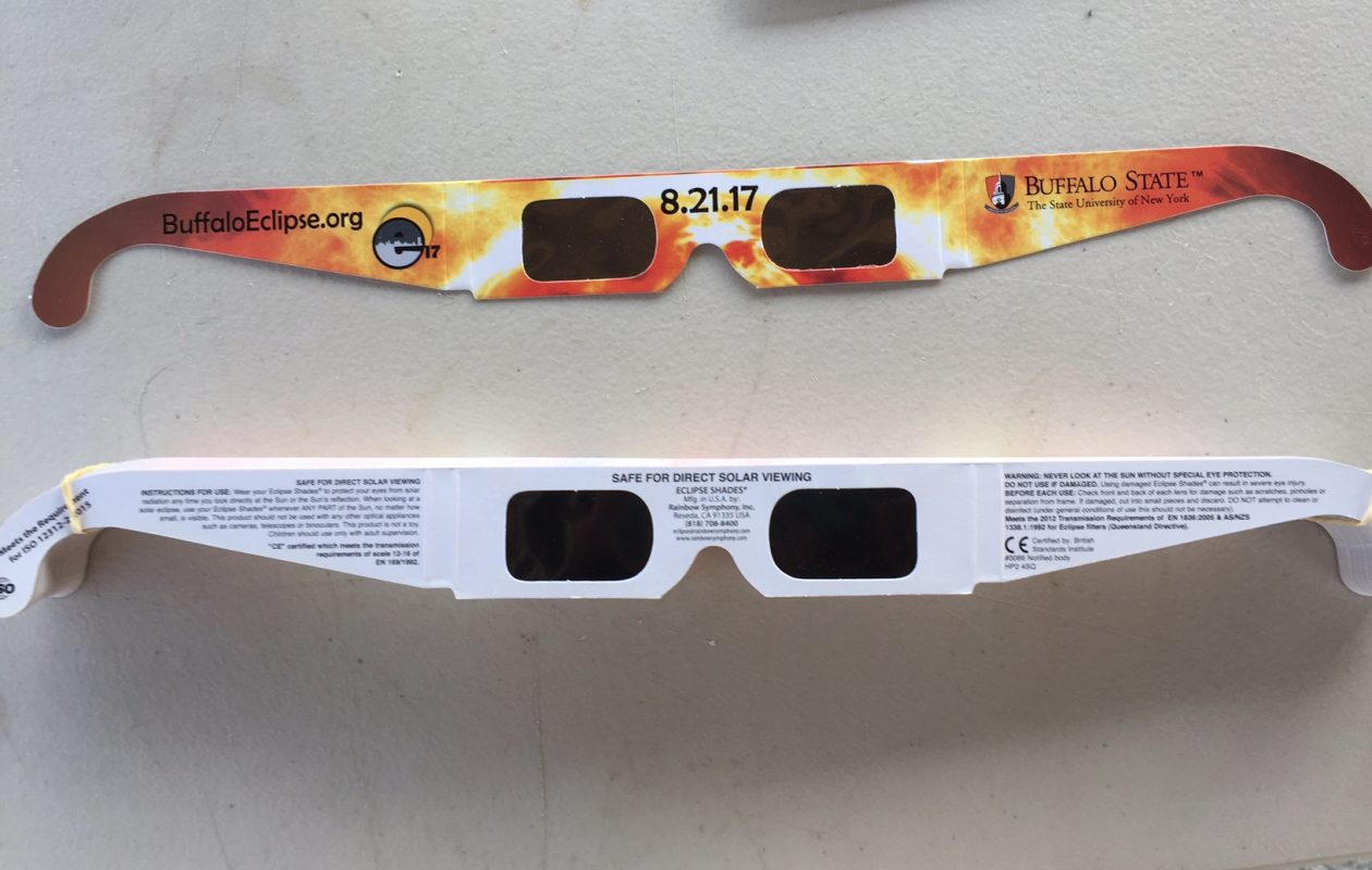 Solar eclipse viewing glasses.