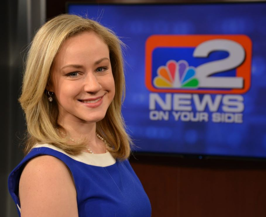 WGRZ reporter Erica Brecher has been off the air while she recovers from a knee injury. (WGRZ photo)