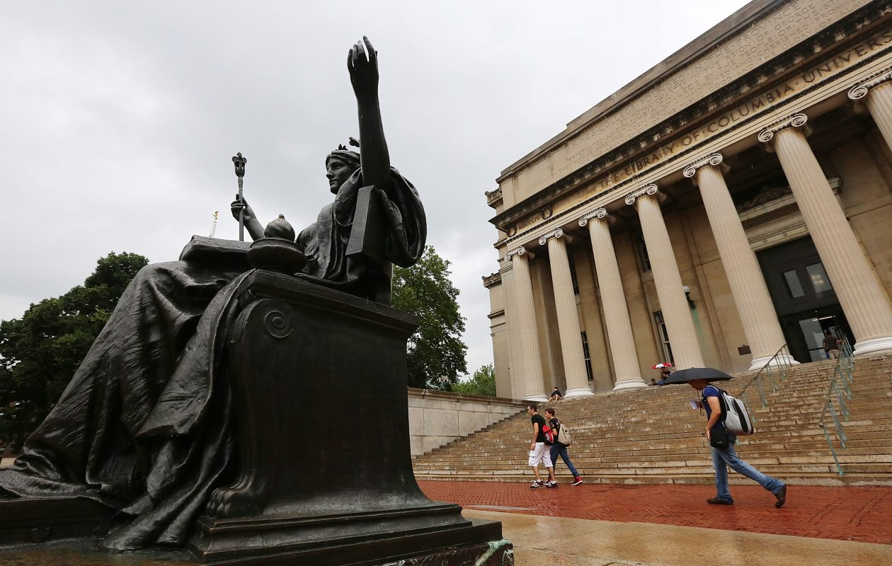 Columbia University in New York City accepted just seven percent of applicants and costs  cost nearly $60,000 a year for room and board.(Getty Images)