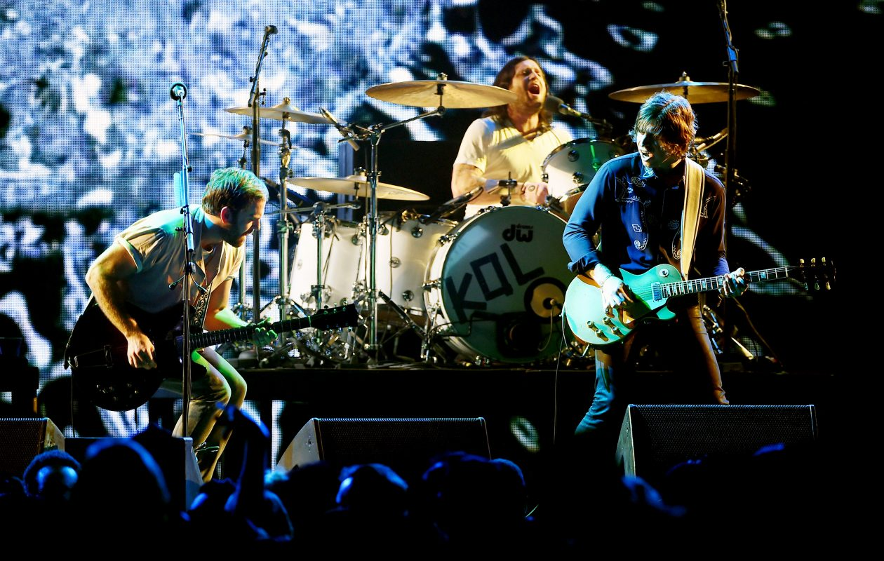 The Kings of Leon, seen during a concert in Inglewood, Calif.,  in December. (Photo by Kevin Winter/Getty Images for CBS Radio)
