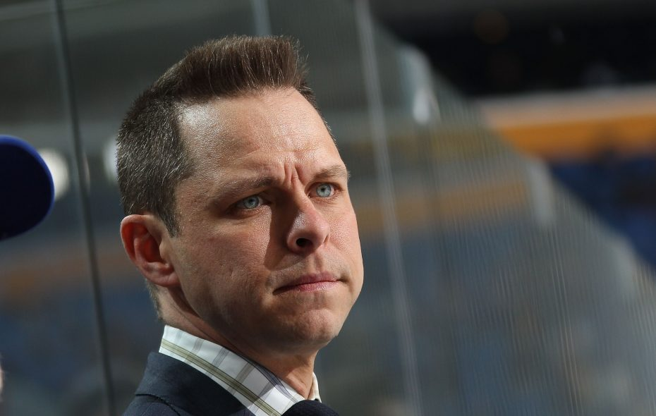 Martin Biron filled in on the Sabres' broadcasts last season. (NHLI via Getty Images)