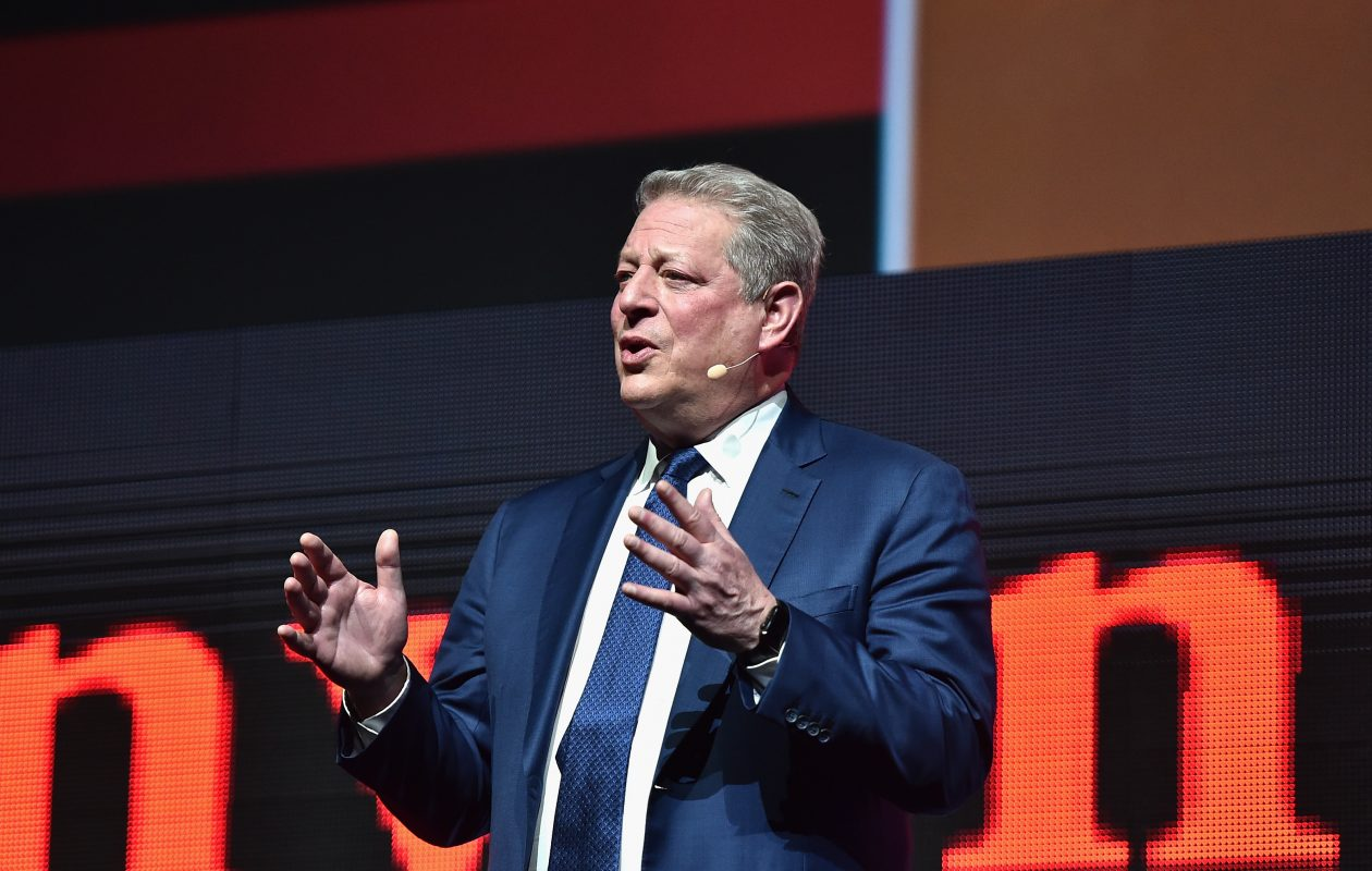 Former Vice President Al Gore speaks about his 'Inconvenient Sequel'  at CinemaCon 2017  in Las Vegas in March. (Getty Images)