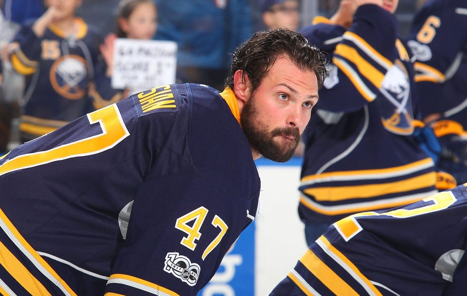 The Sabres' Zach Bogosian is raising money for the Houston Food Bank. (NHLI via Getty Images)