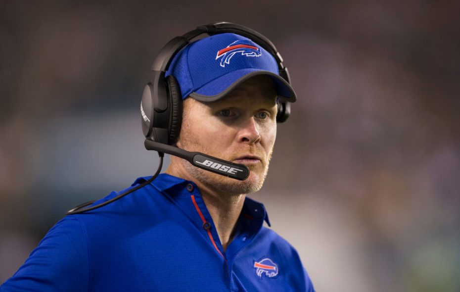 Bills coach Sean McDermott looks on in the fourth quarter of a sloppy preseason loss to the Eagles (Getty Images)