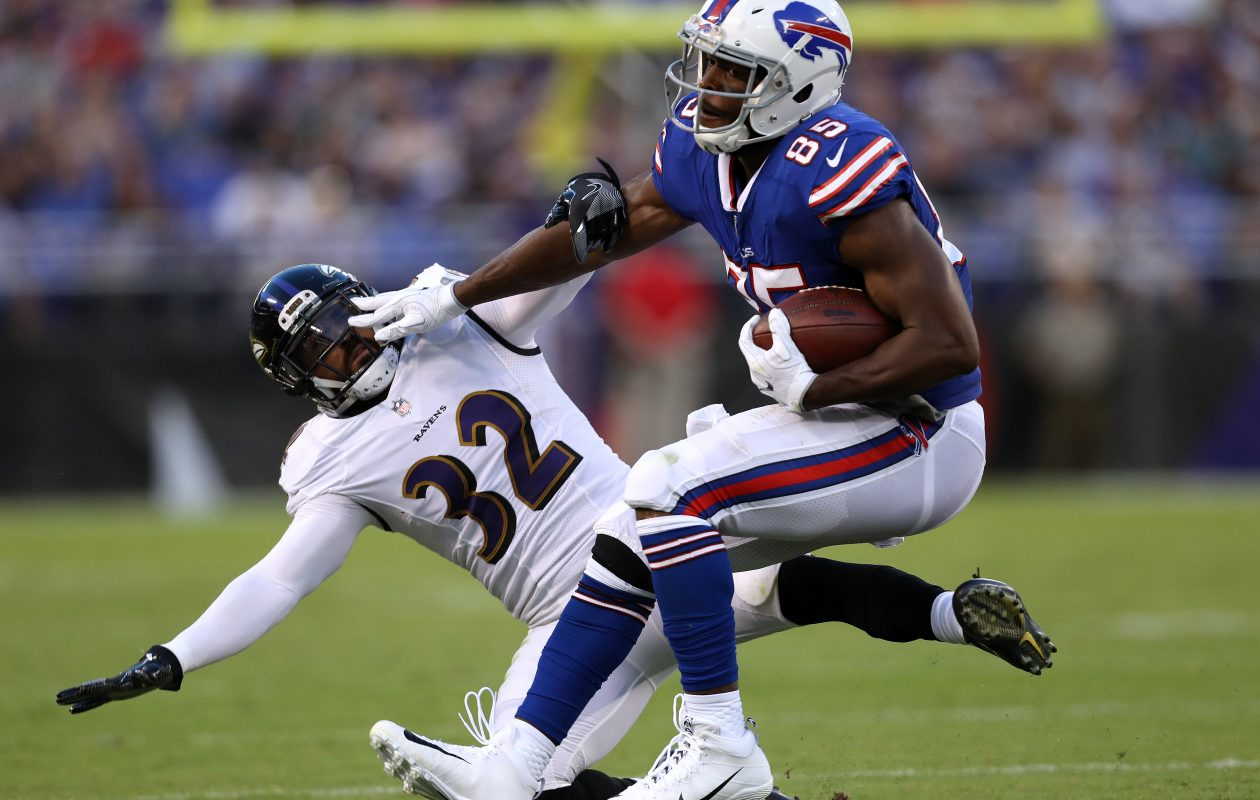 Tight end Charles Clay had a productive night for the Bills on Saturday against the Ravens. (Getty Images)
