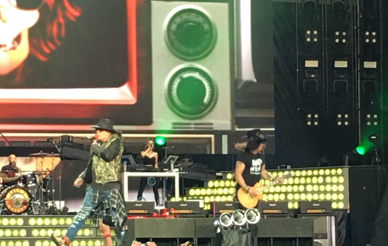 Axl Rose and Slash led Guns N' Roses through a performance Wednesday at New Era Field in Orchard Park. (Buffalo News)