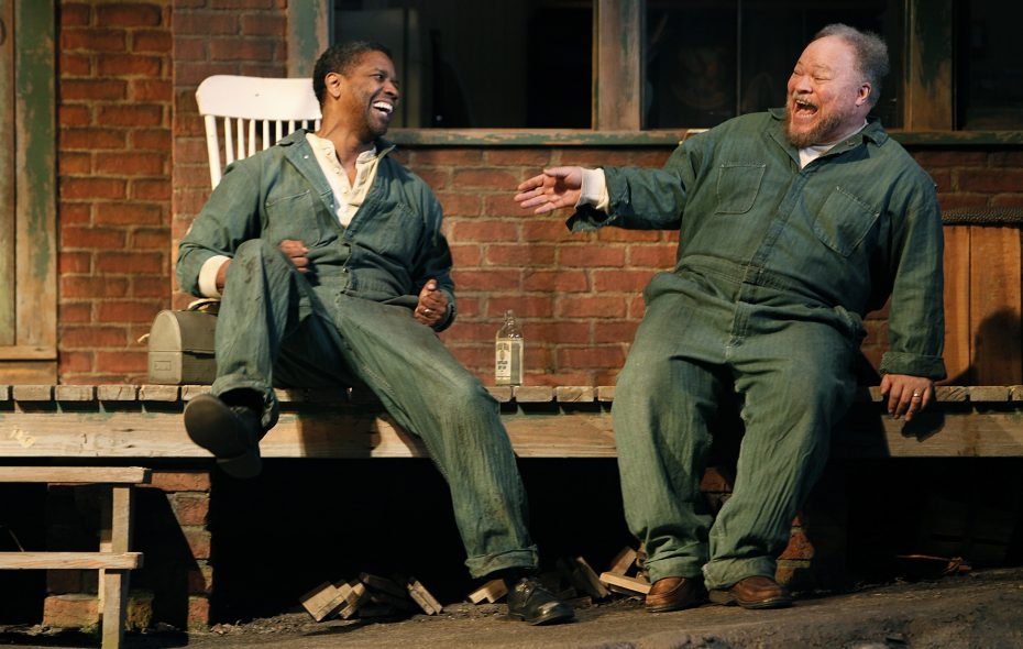"""Stephen McKinley Henderson, right, with Denzel Washington in the Broadway production of August Wilson's """"Fences."""""""