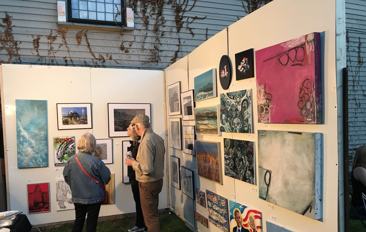 Michael Mulley's 'Art Under the Stars' event features an outdoor gallery at 64 College St.