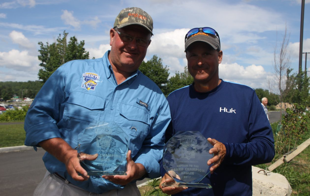 The 16th Greater Niagara BassEye Grand Champion was Mike Sullivan of Grand Island (L) with the Charter Captain that led the way, Capt. Chris Cinelli of Grand Island.