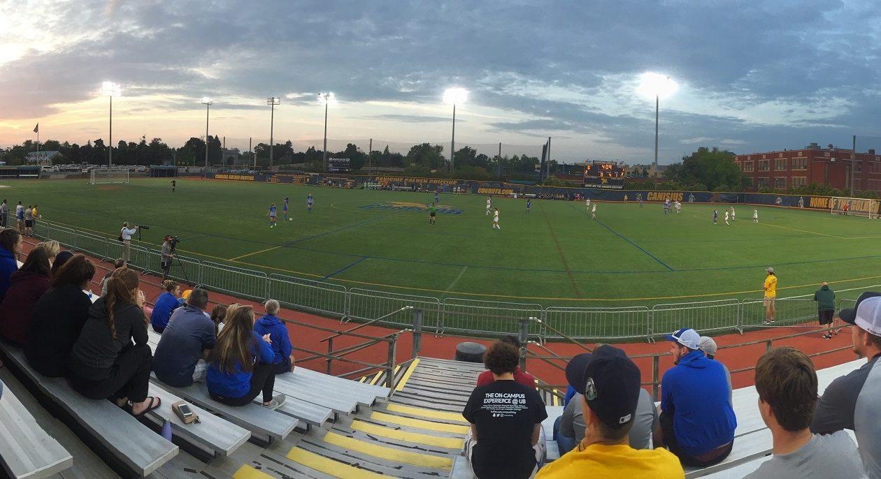 Panoramic shot of Canisius College women's soccer vs. UB on Aug. 29, 2017. (Ben Tsujimoto/Buffalo News)