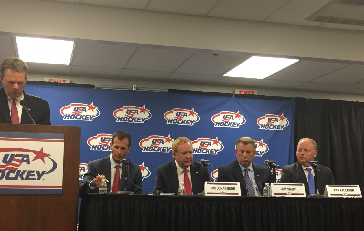 USA Hockey announced its management and coaching staff for its 2018 men's Olympic team.